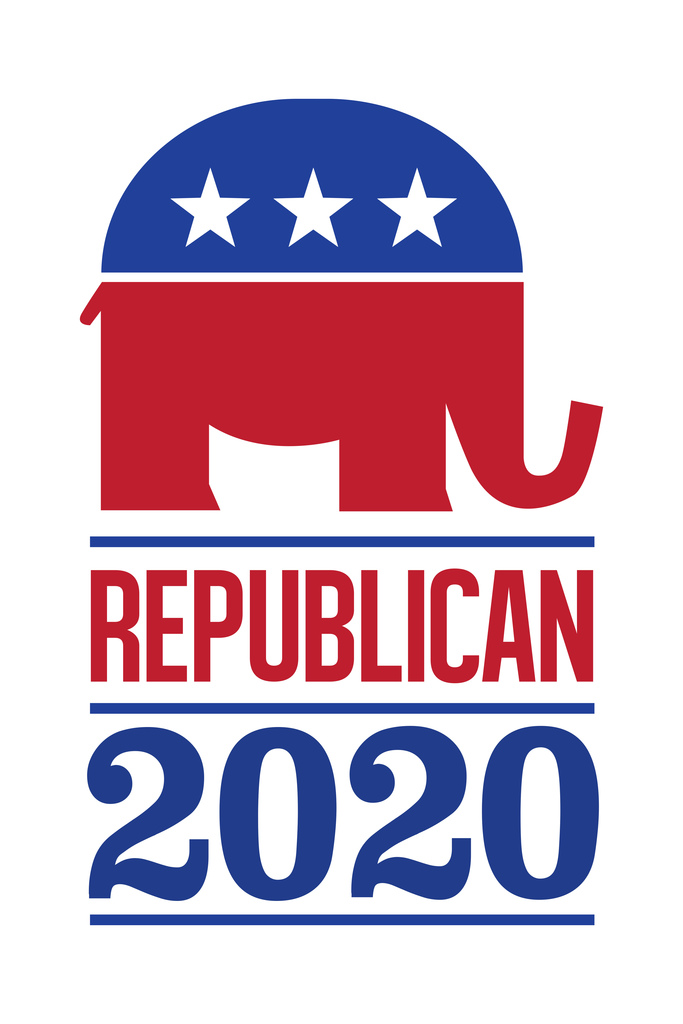 Details about Vote Republican 2016 Elephant Logo White Poster 12x18 inch.