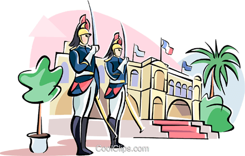 Republican guard Royalty Free Vector Clip Art illustration.