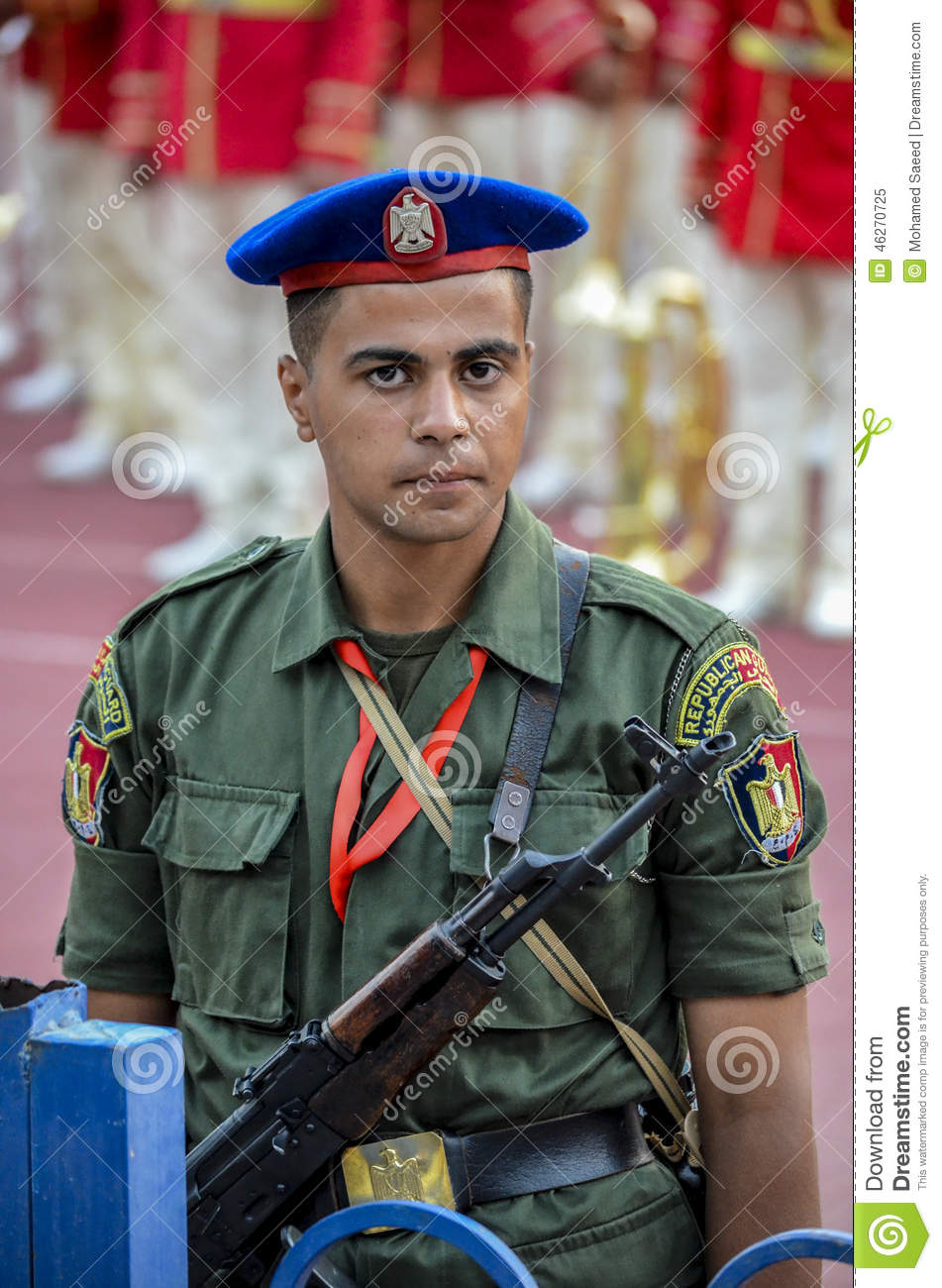 Soldier Of Egyptian Republican Guard In Cairo Stadium Editorial.