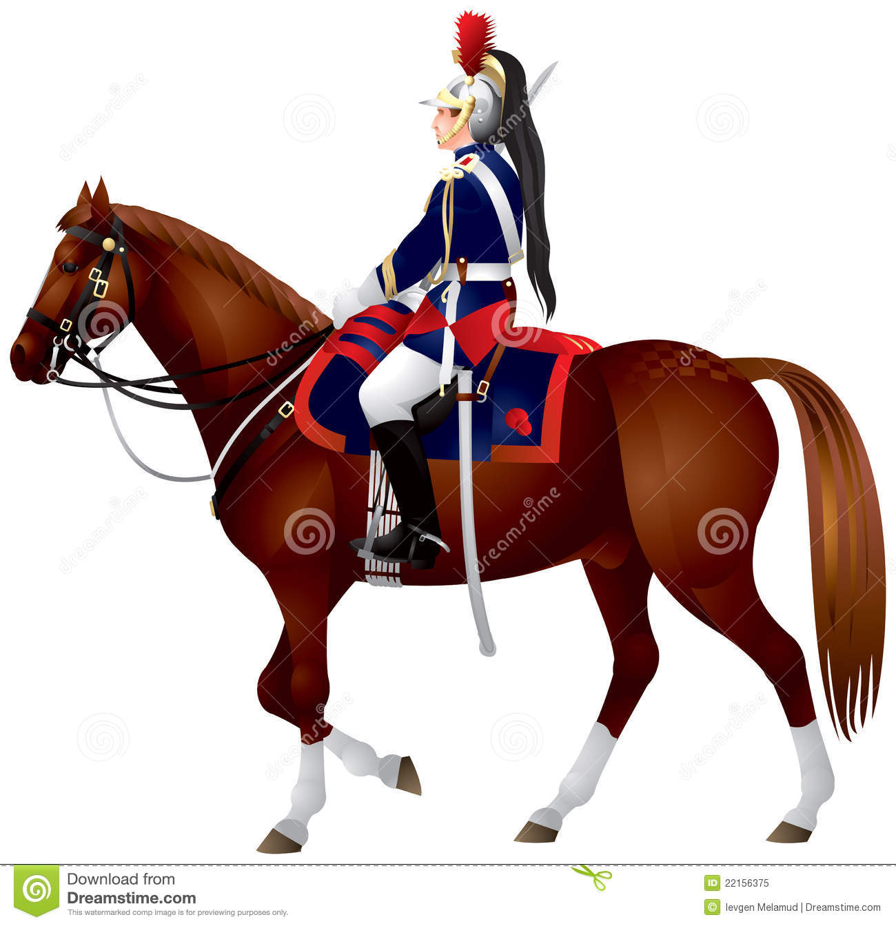 French Republican Guard Cavalier Royalty Free Stock Photo.