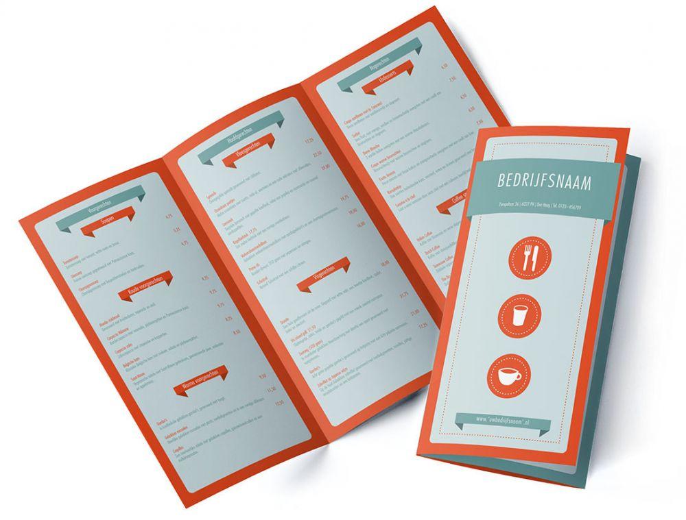 Menukaart Krijtbord Een speelse menukaart, getekend op een.