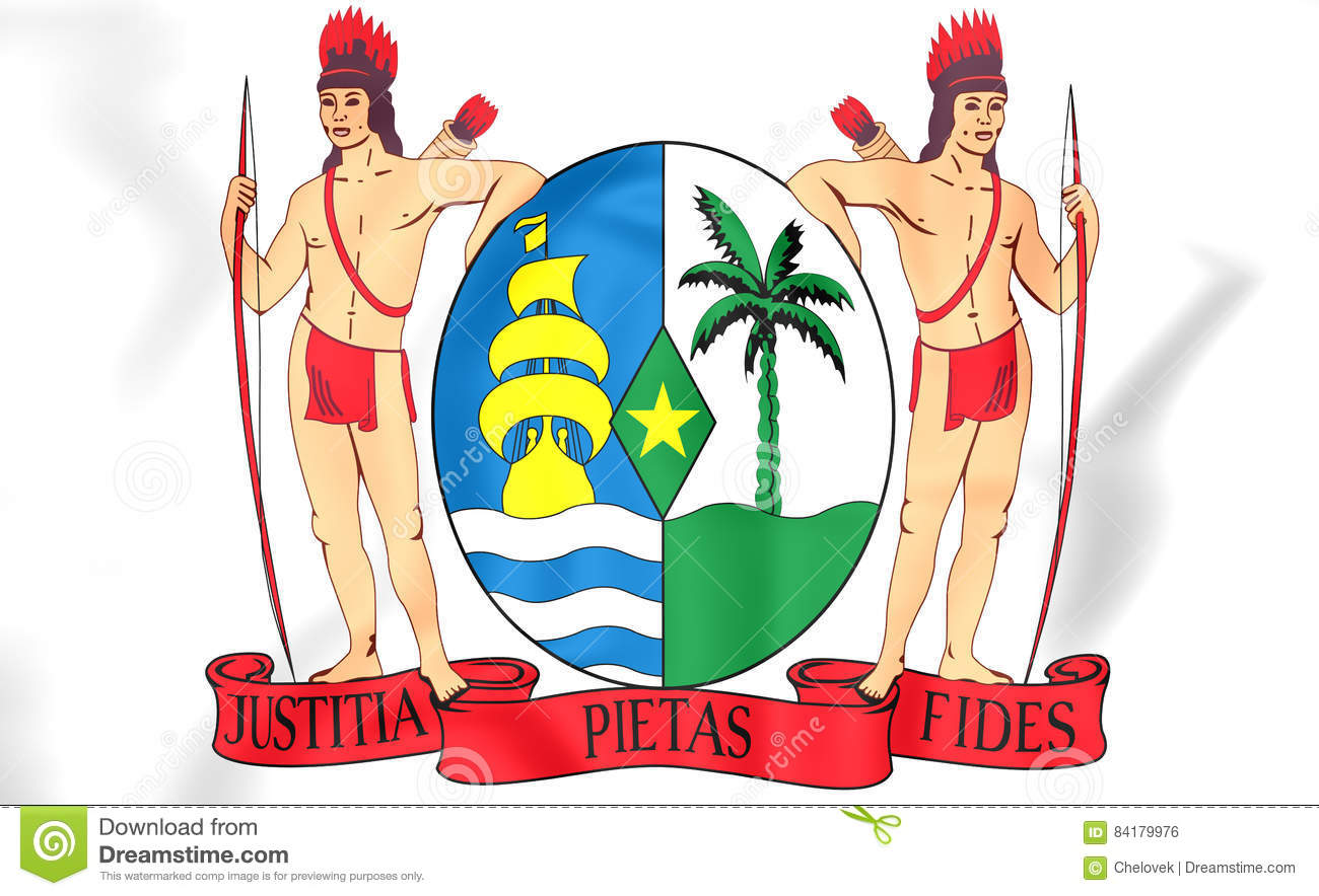 Suriname Coat Of Arms. Stock Illustration.