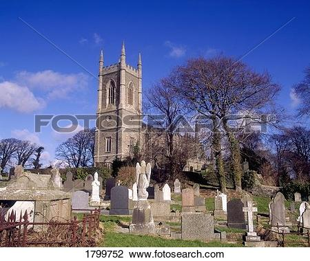Stock Photo of Down Cathedral, reputed burial place of St Patrick.