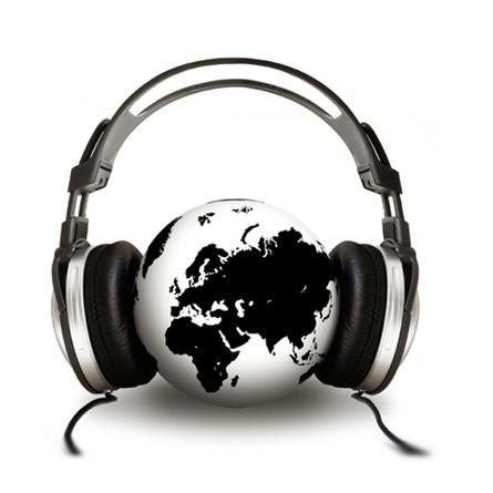 Headphones World Black White Sound For The Musik Kopfh rer.