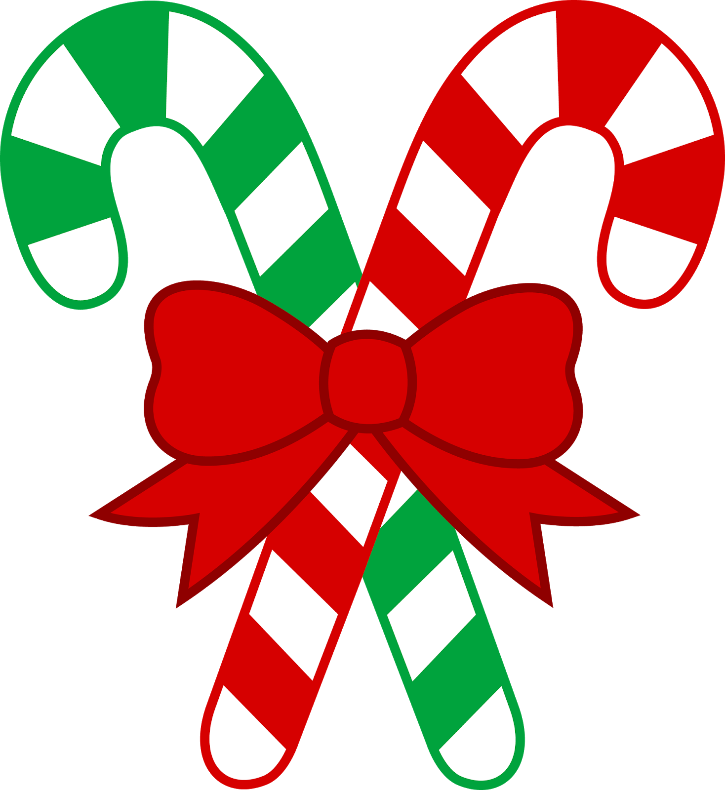 Free Christmas Candy Cane Hi Res Clipart.