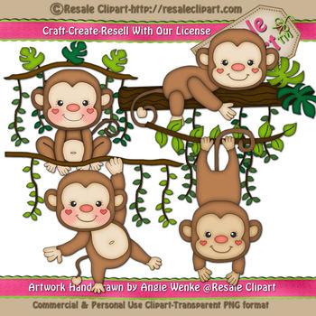 Jungle Monkeys ClipArt.