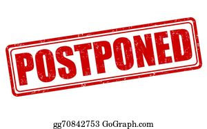 Postponed Clip Art.