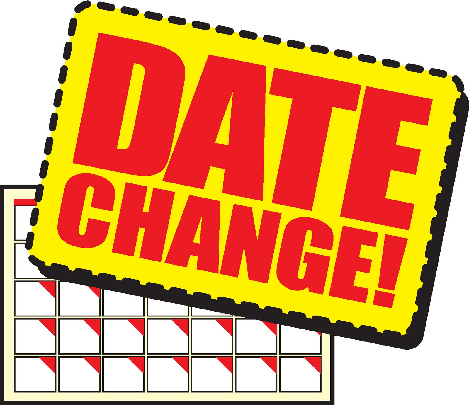 Date change clipart.