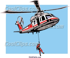 Rescue helicopter Clip Art.