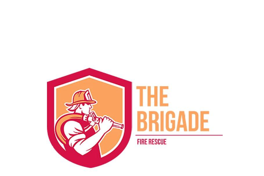 The Brigade Fire Rescue Logo.