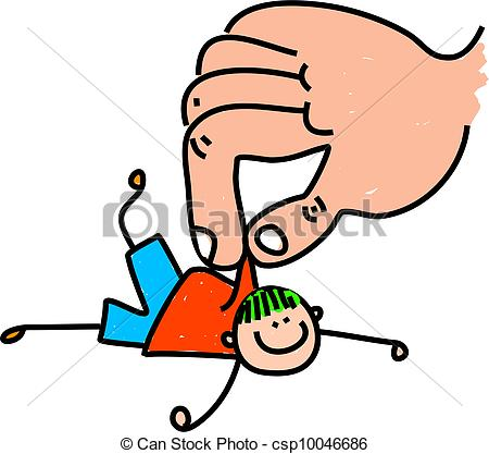 Stock Illustration of Rescue Kid.