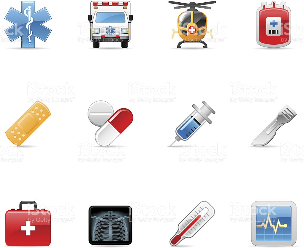 Medical Emergency And Rescue Icons stock vector art 165721496.