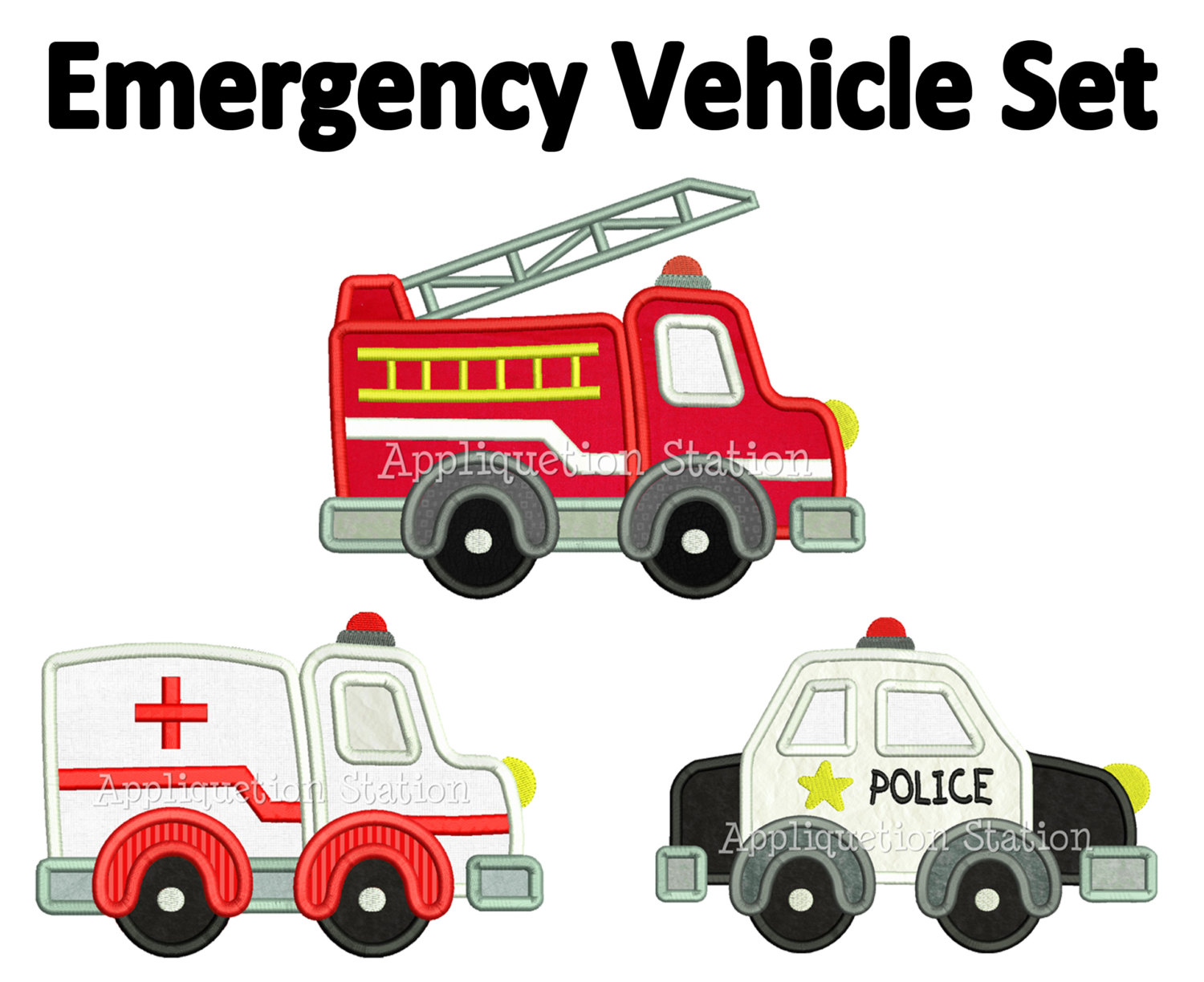 Fire Truck And Police Car Clipart.
