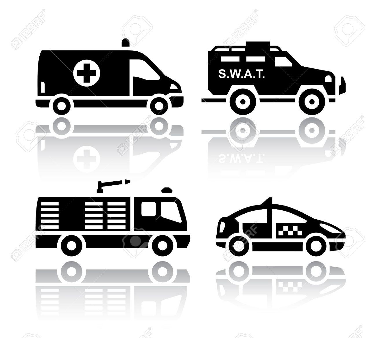 Set Of Transport Icons.
