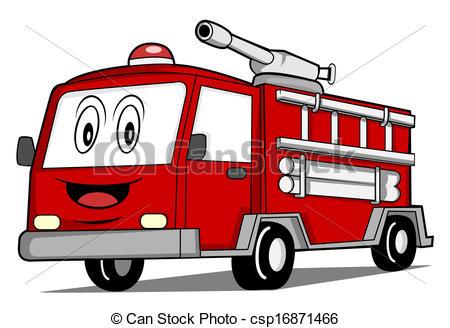 Clip Art Vector of Rescue Truck Car csp16871466.