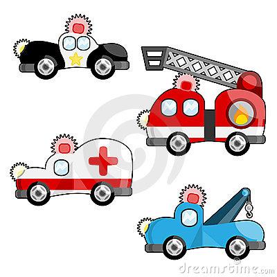 Emergency Vehicles Sign Stock Illustrations.