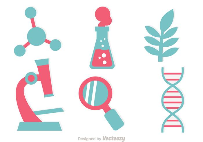 DNA Research Icon Vectors.
