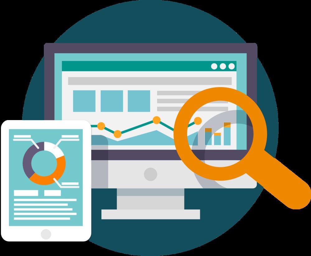 HD Marketing Research Icon.