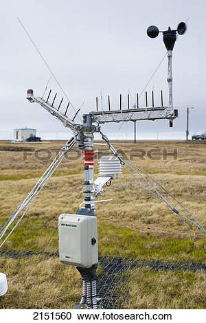 Stock Photography of Climate Research Station In Barrow, Alaska.
