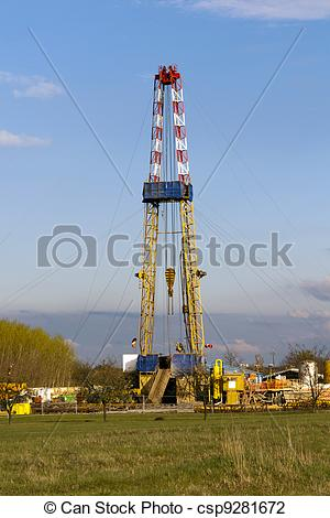 Stock Photo of Rig of the forest edge, research station..