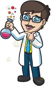 Scientist Clipart Cartoon.