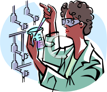 Royalty Free Clipart Image: African American Woman Medical Researcher.