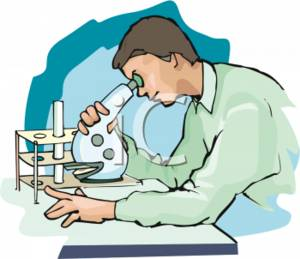 Cliaprt Picture of a Researcher Looking Through a Specialty Microscope.