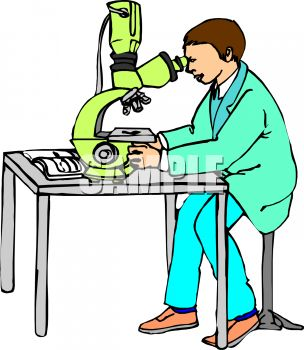 Scientist or researcher using a powerful microscope.