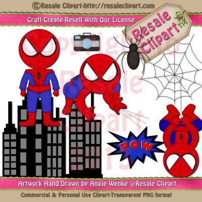 BatGirl Inspired Clip art Graphics by Resale Clipart.