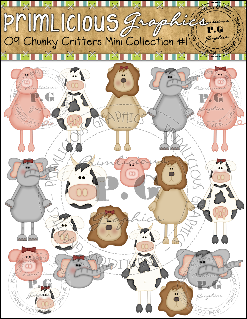 Critters Reseller ClipArt : Primlicious Clip Art & Graphics.
