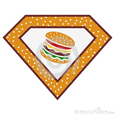 Super Burger Stock Illustration.