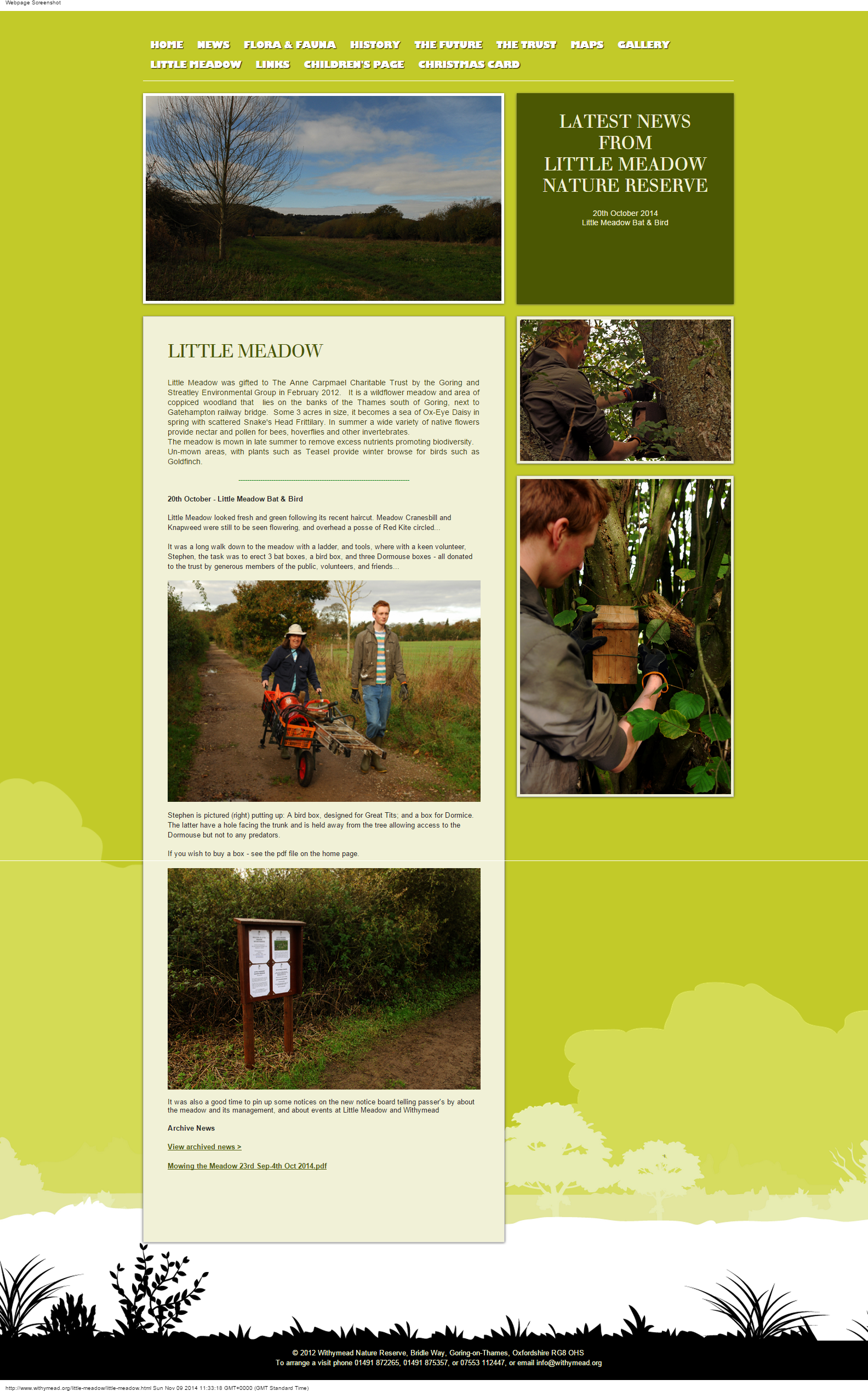 Archived news from Withymead Nature Reserve.