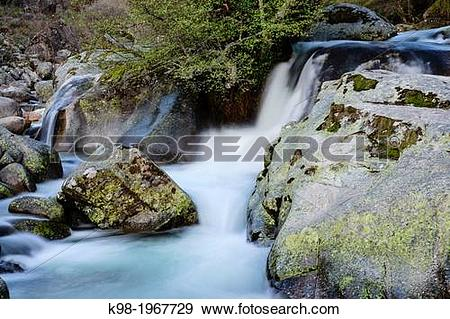Stock Photograph of Water Jump, Gorge nature reserve Hell, saw.