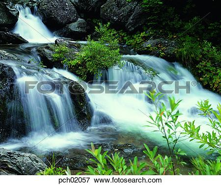 Picture of valley, canyon, valley, canyon, running water, stream.