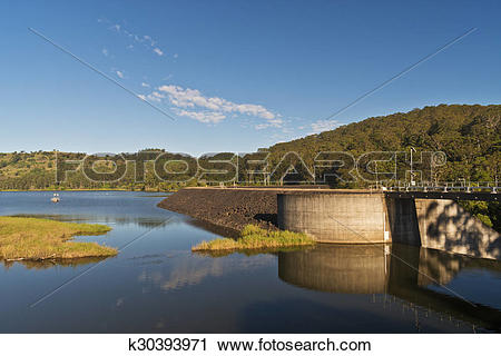 Stock Photography of Lake Baroon Water Reserve k30393971.