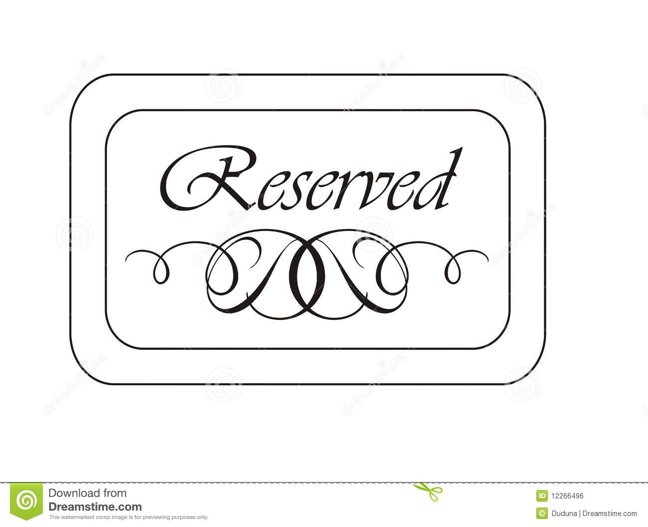 Reserved Sign Clipart.