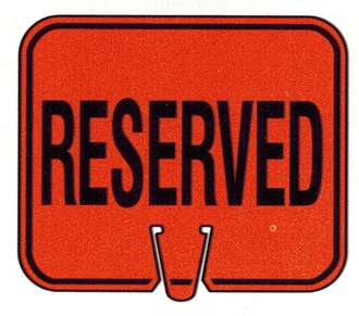 Reserved sign clip art.