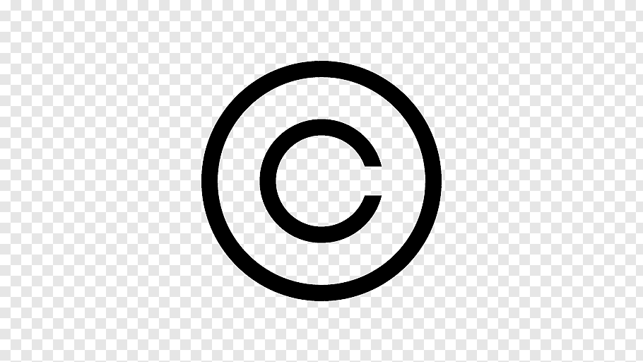 Copyright logo, Copyright symbol Creative Commons license.