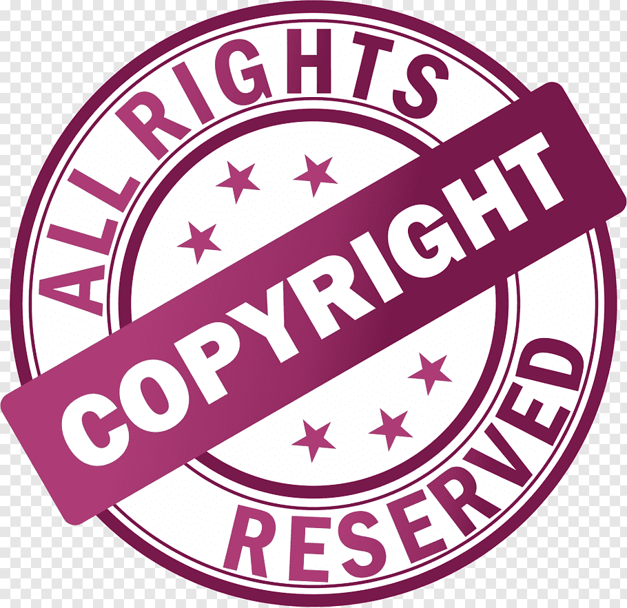 All Rights Reserved logo, Copyright symbol All rights.