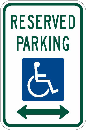 Handicapped Reserved Parking Png Image.