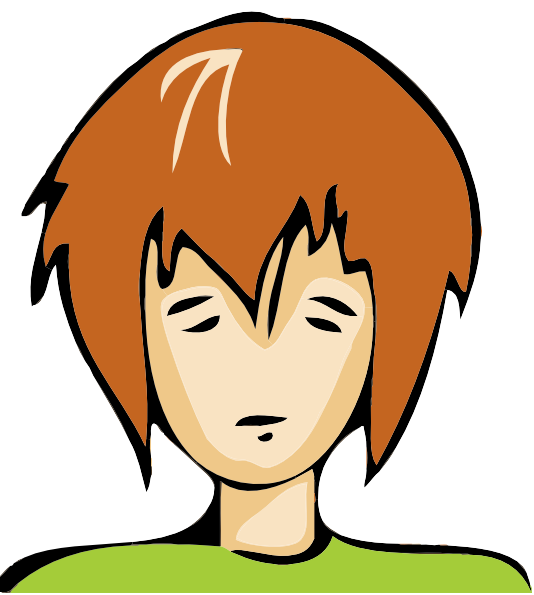 Sad Person Clipart.