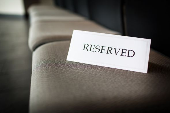 Reserved Seating Clipart.