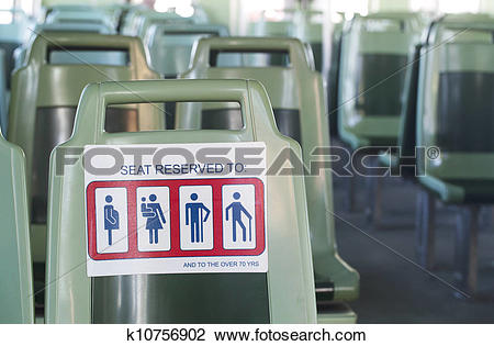 Stock Photo of Reserved Seating k10756902.