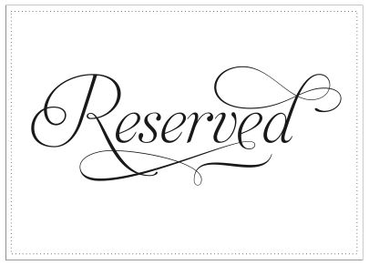 Sitting at reserved table clipart.