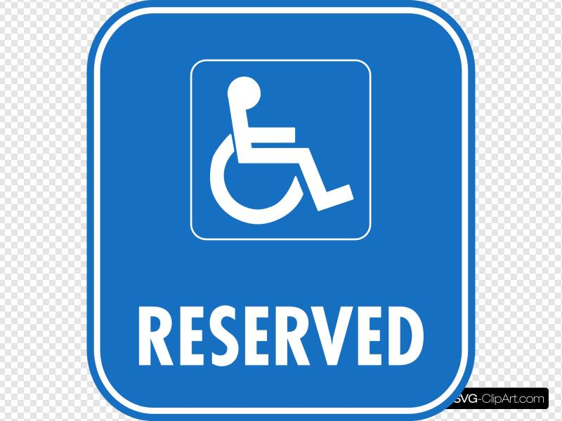 Reserved Disabled Parking Clip art, Icon and SVG.