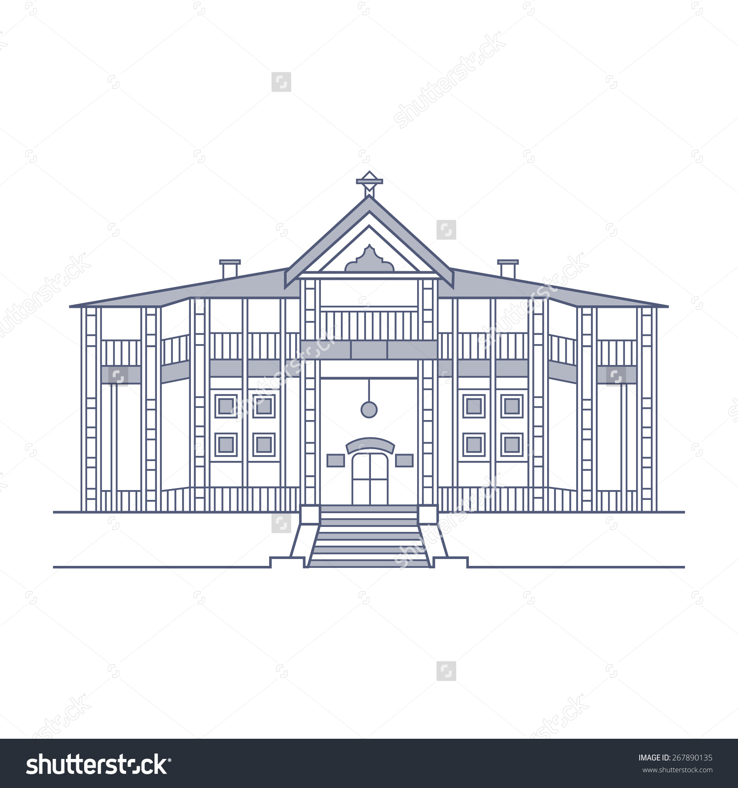 Ziarat Residency Stock Vector 267890135.