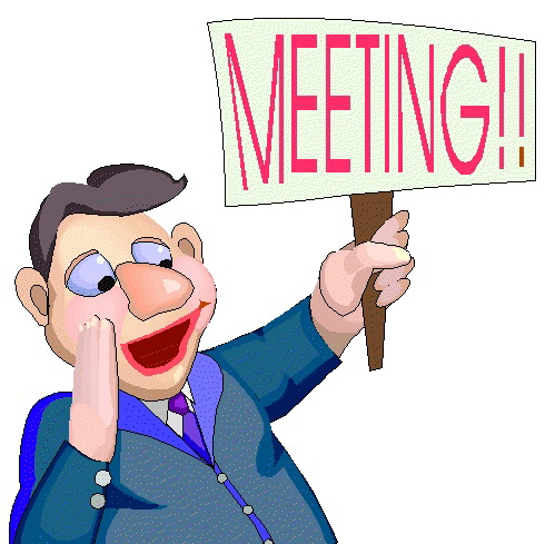 Resident council meeting clipart.