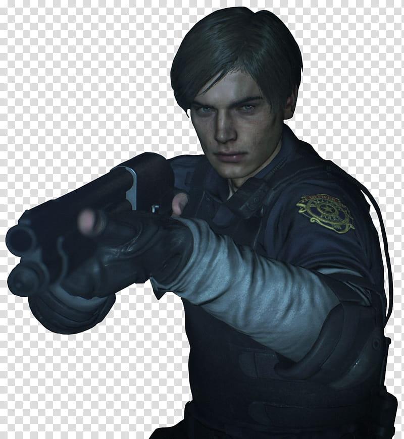 Resident Evil Leon Shotgun Render transparent background PNG.