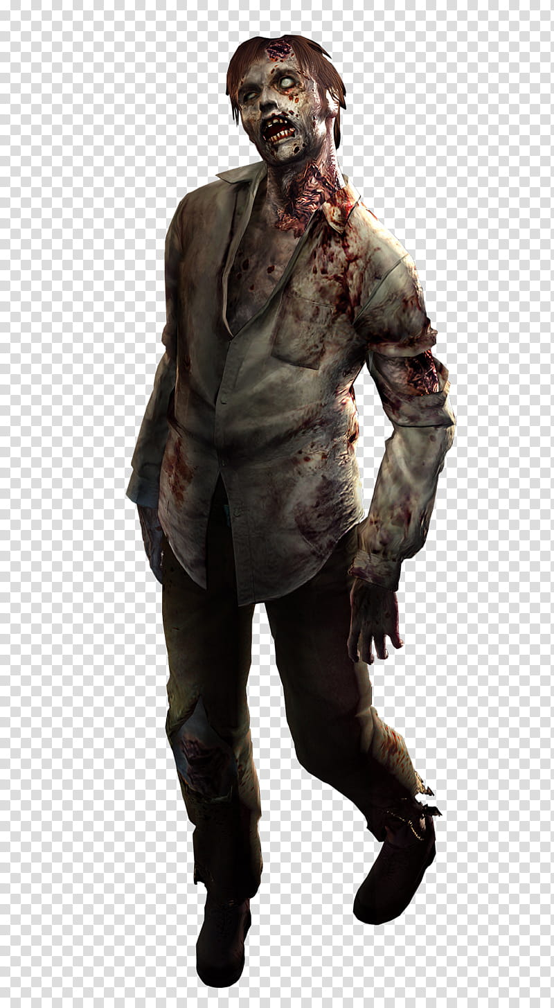 Resident Evil HD High Quality Zombie Render transparent.