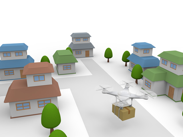 Residential area / Delivery / Drone.